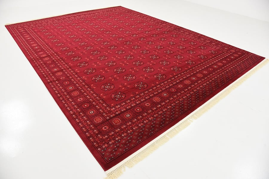new Bokhara Afghan design rug Large size 9x13 red carpet Persian style cab7fb5d-239c-4ddd-ad82-b52360041777