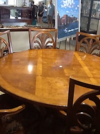 brown wooden dining table with chairs Rockville, 20850