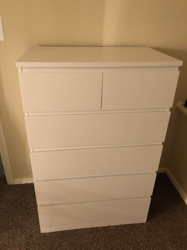Used White 5 Drawer Dresser For In