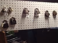 7 Antique padlock lot the WB is sold  Dover, 17315