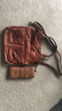Fossil purse and wallet- cognac Corona, 92882