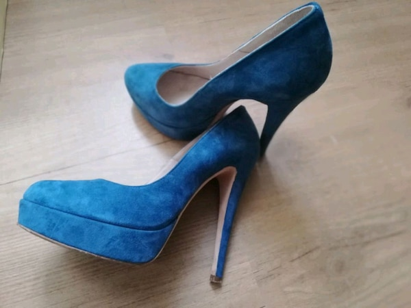 uk availability 4deaf a50c4 Scarpe in renna blu n 37 usate una volta