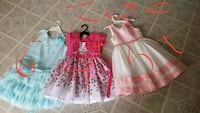 girl's two pink and white dresses Garland, 75041