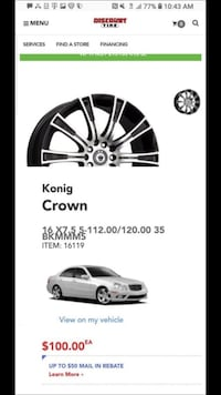 Crown rims $100 for all Rim size 16 Gilbert, 85296