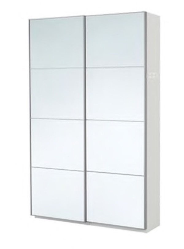 Used Ikea Pax Wardrobe Closet With Shelves Mirrors Etc For Sale In