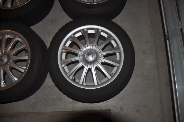 Price Reduced! - Now $250! - 4 Used Wheels with Bridgestone Blizzak Winter Tires WS80 - SIZE: 225/50R17 along with locking lug nuts to use with them ce029f52-90fa-4bf6-a716-5c90f5d66a99