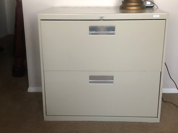 2 drawer lockable filing cabinet