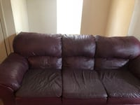 brown leather 3-seat sofa Kenner, 70065