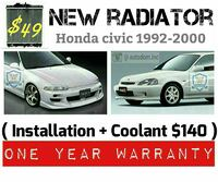 New Radiator Honda Civic 1992-2000 Ontario