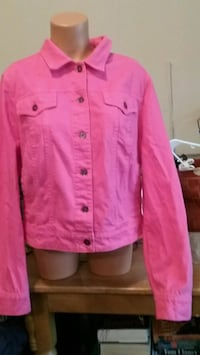 NEW JCP HOT PINK LADIES JACKET SIZE XL  Springfield, 65803