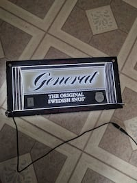 General snus smokeless tobacco sign.