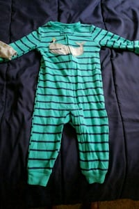baby's green and black footie pajama Athens, 30606