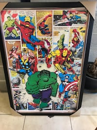Various Marvel comic framed pictures  Toronto, M9A 1K7