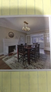 Cherrywood dinning room set with 6 wood chairs