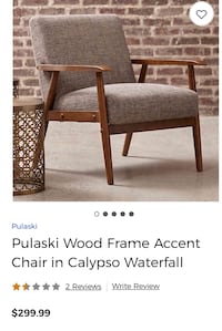 Pulaski Wood Frame Accent Chair in Calypso Waterfall