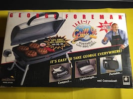 new GEORGE FOREMAN TAILGATING PORTABLE GAS GRILL