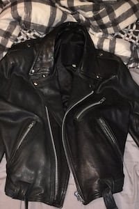 Large leather jacket