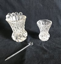 Antique crystal toothpick and cocktail pick holders Ridgefield Park, 07660