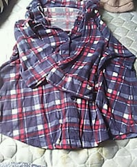 blue, white, and red plaid dress shirt Bangor, 04401