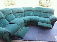 green and white fabric sectional sofa Statesville, 28677