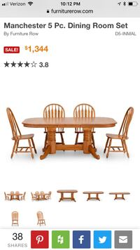7 Pc Oak Dining Room Set