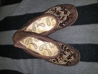Brown flats shoes women size 9
