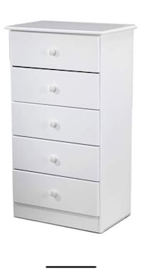 Move sale. 5 drawer white wooden chest Los Angeles, 90049