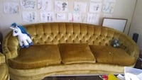 tufted brown leather tufted sofa La Puente, 91744