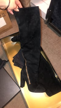 black suede thigh high boot Cliffside Park, 07010