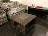 brown wooden table with bench Bengaluru, 560023