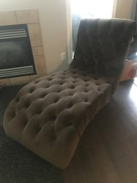 Chocolate Brown Microsuede Chaise Edmonton
