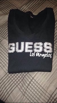 Guess noir et blanc los angeles pull