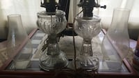 Pair of Antique Oil lamps Electrified but not drilled Newport News, 23601