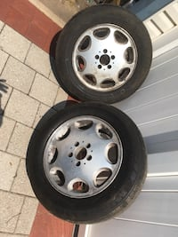 Mercedes S Class rims 2 rims and 2 tires .