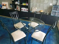 5 piece glass table and chairs Fort Mill, 29715