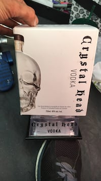 BOX OF CRYSTAL HEAD VODKA AND LIGHT STAND  Surrey, V3T 4C8