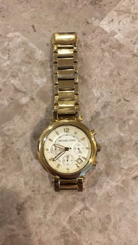 round gold Michael Kors chronograph watch with link bracelet Poughkeepsie, 12601