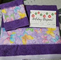 Full size towel and was cloth set