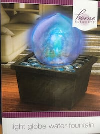 Home Elements Light Globe Water Fountain