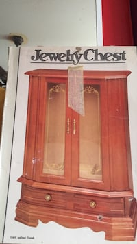 Jewelry Brown wooden framed glass cabinet Los Angeles, 90003