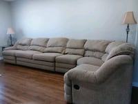 Beige fabric 5 piece sectional Toms River, 08757