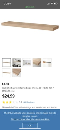 IKEA floating shelf