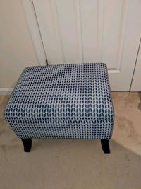 Blue Chevron Ottoman w/storage Sterling, 20164