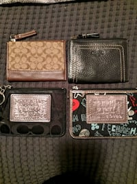 GREAT STOCKING GIFTS! NEW AUTHENTIC COACH COIN PURSES Burlington, L7P 4X3