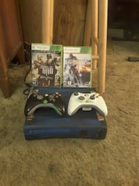 Xbox 360 with 2 controllers and 2 games 503 mi