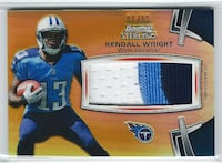 KENDALL WRIGHT 2012 Bowman Sterling GOLD REFRACTOR PATCH #/65 Titans r Las Vegas