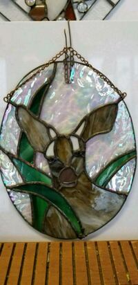 Stained glass deer,  a one of a kind piece.   Tiverton, 02878