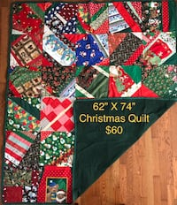 Homemade Christmas Quilt - $60 Acheson, T7X