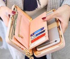 Fashionable clutch for phone, cash, and credit cards