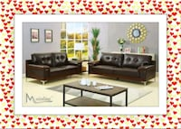 Espresso Sofa and Loveseat New Two Tone Silver Spring, 20906
